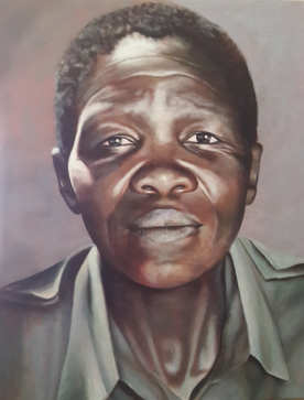 Portrait of old lady at Cape Town Shebeen