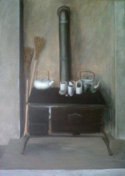 Stove in the Knysna Studio