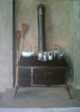 Still life of my stove in my Knysna studio