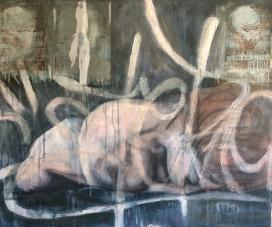 Post Hoc - Mixed Media on Canvas 76cm x 91cm
