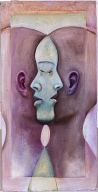 Surreal portrait of two faces