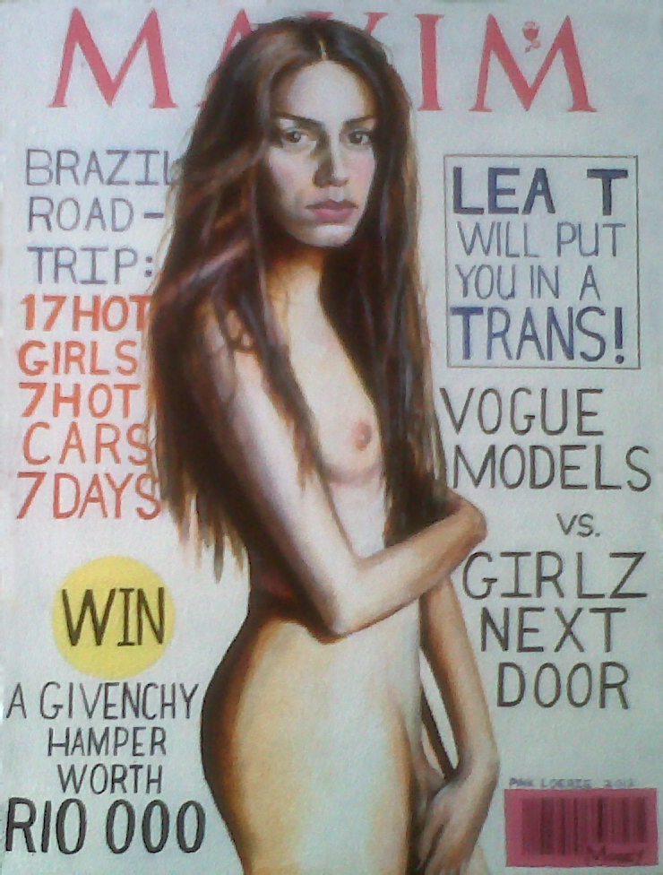 Portrait of Lea-T as a Maxim cover model