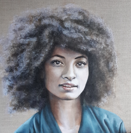 Portrait of Jazz Musician Esperenza Spalding