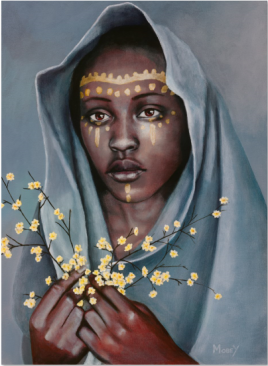 Thelma with Yellow Blossoms