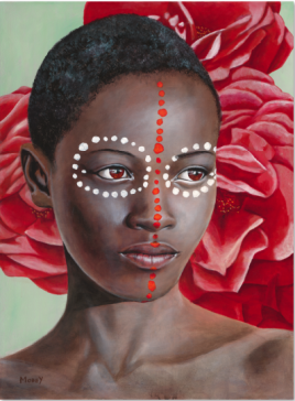 Youth with Dots and Red Roses